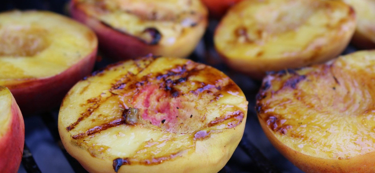 Simple + Sweet Grilled Peaches + Ice Cream