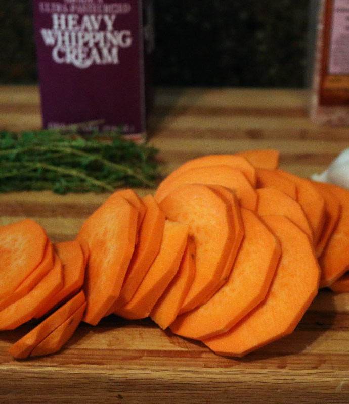 Gruyere Scalloped Sweet-Potato Stacks