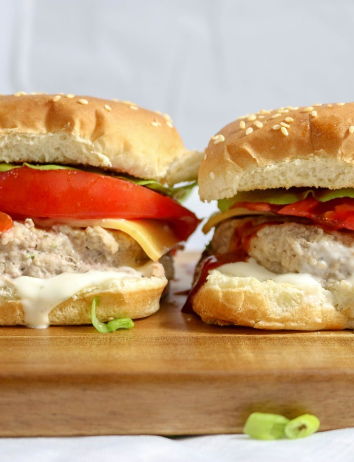 Cheddar Ranch Turkey Burgers