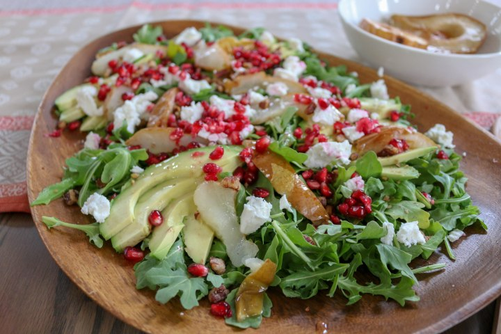 Avocado Pomegranate Salad with Pomegranate Vinaigrette