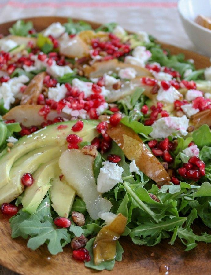 Avocado Pomegranate Salad with Pomegranate Vinaigrette