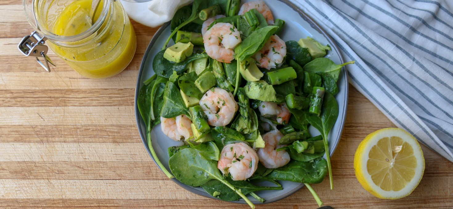 Spring Shrimp, Asparagus, and Avocado Salad