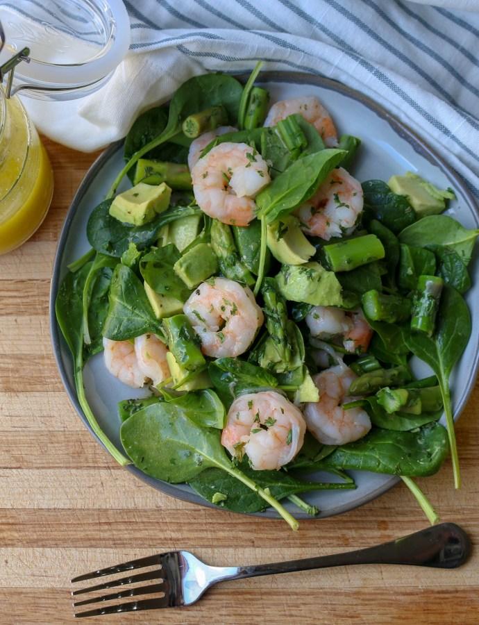Spring Shrimp, Asparagus, and Avocado Salad