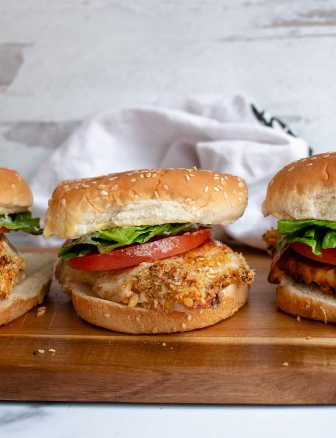 Baked Crispy Chicken Sandwiches