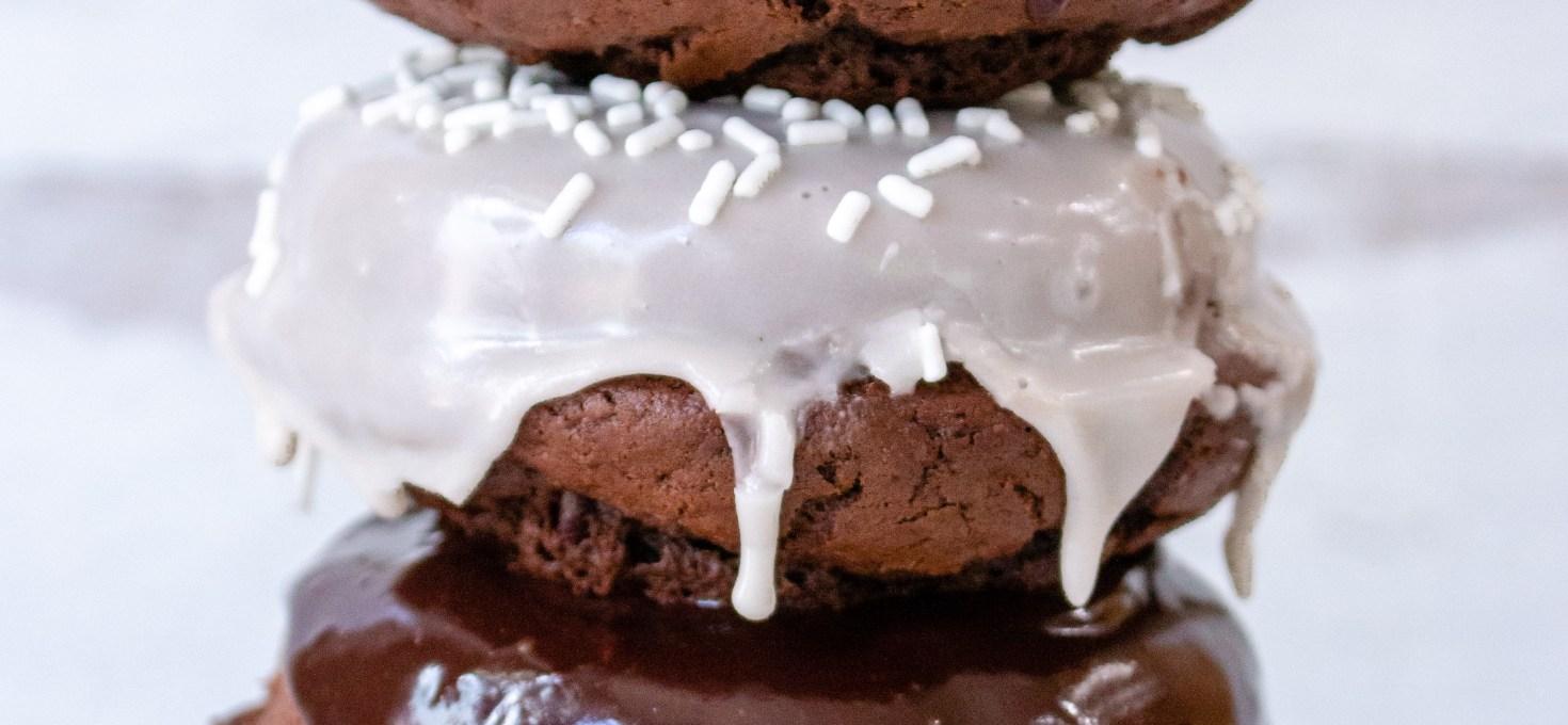 Chocolate Fudge Cake Donuts