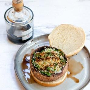spinach stuffed portobello burgers