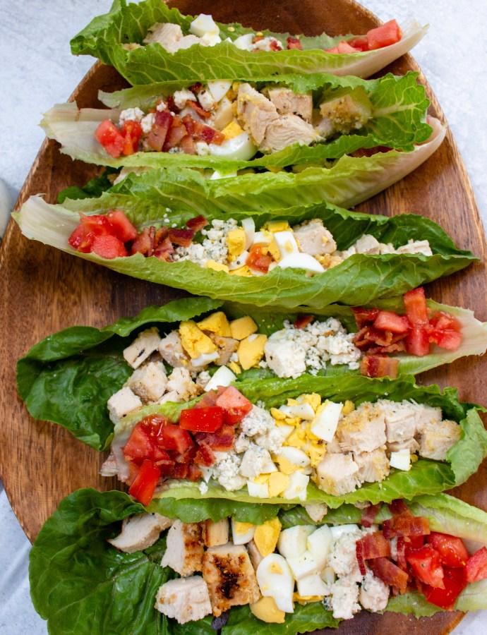 Cobb Salad Romaine Boats