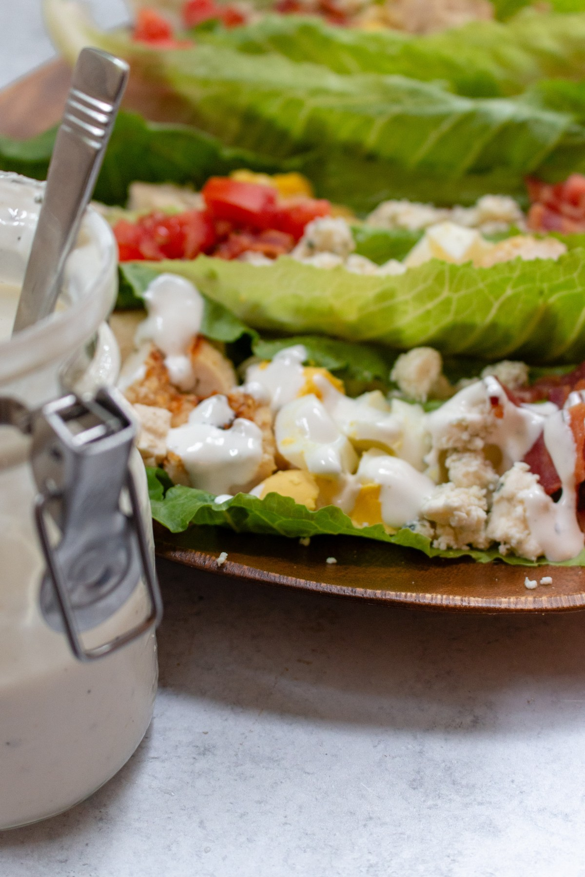 cobb salad romaine boats