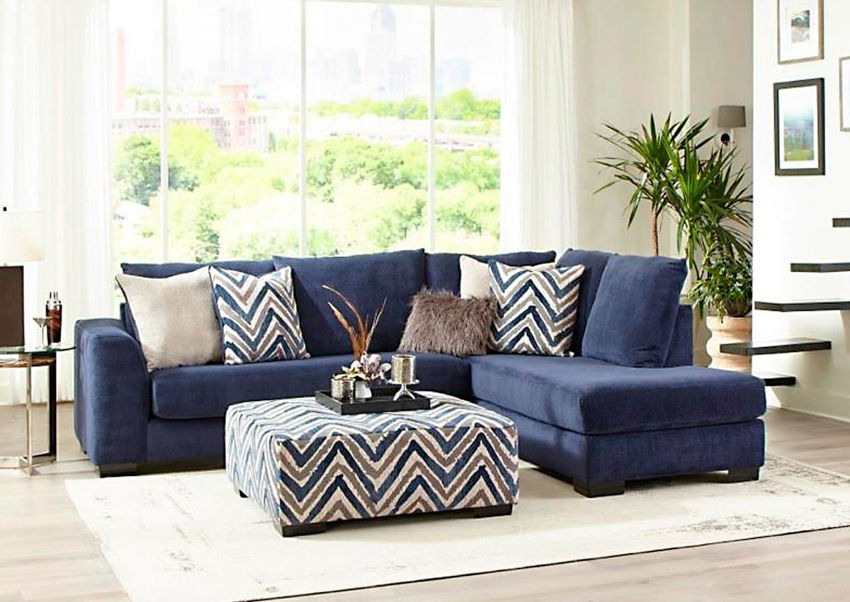 prowler small sectional sofa navy blue