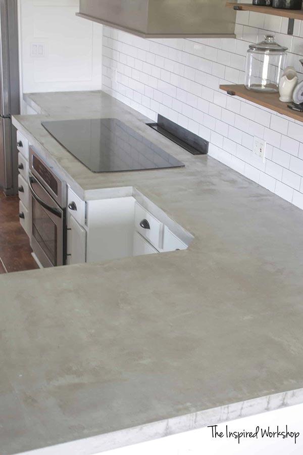 Diy Concrete Countertops Pour In Place Home Garden Diy