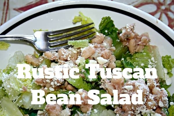 rustic Tuscan bean salad recipe