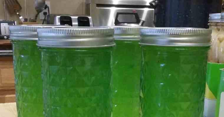 Recipe for Lemon Parsley Jelly