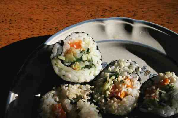 Sweet potato sushi