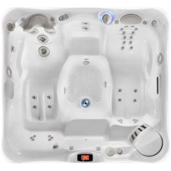Foto van bovenaf van een bad uit de Utopia-serie van Caldera. Het type van de spa is Provence.