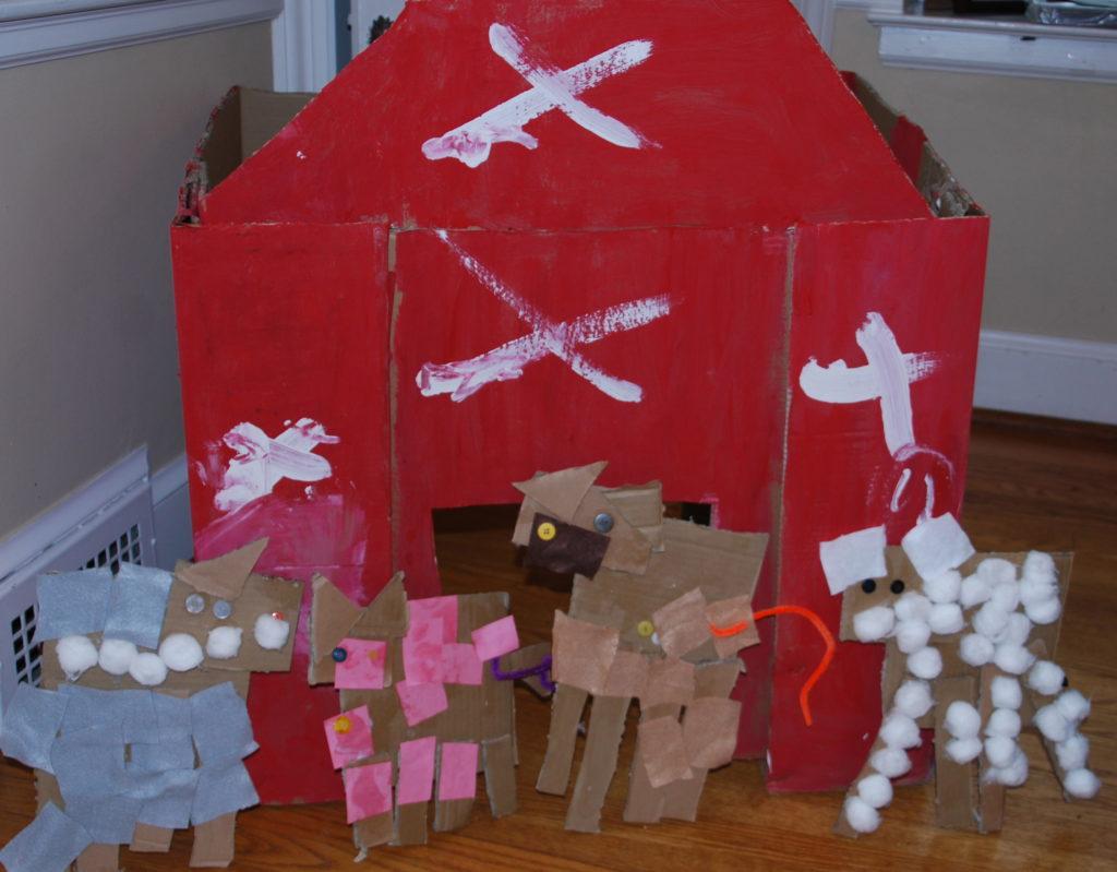 Cardboard Farm Animals And Barn Art