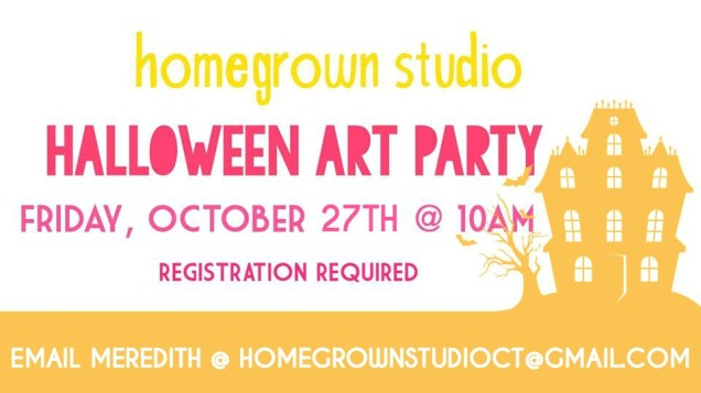Homegrown Studio Halloween Art Party in West Hartford CT