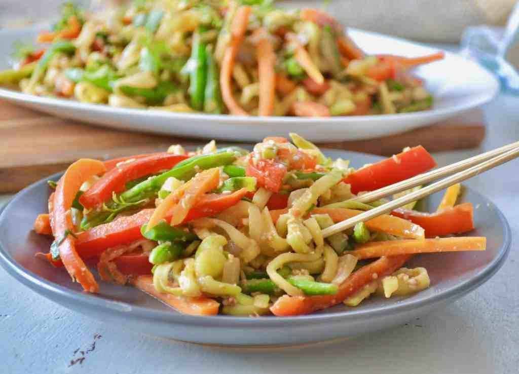 Grain-Free Zucchini Satay Stir-Fry