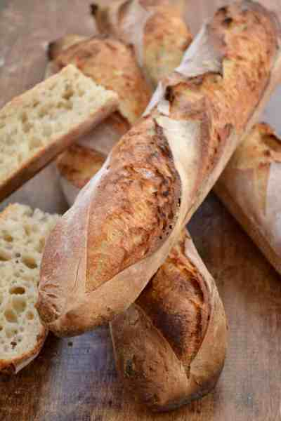 Step by Step Sourdough Baguettes