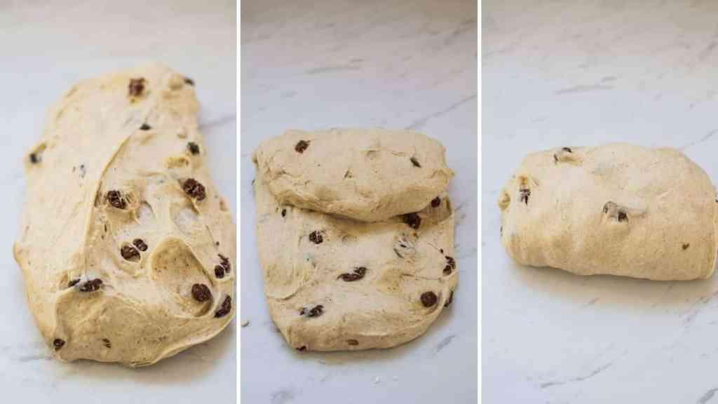 the steps of folding dough