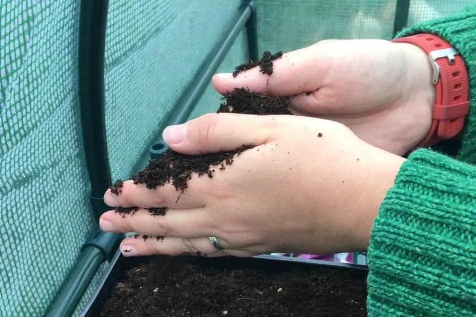 fine covering of soil