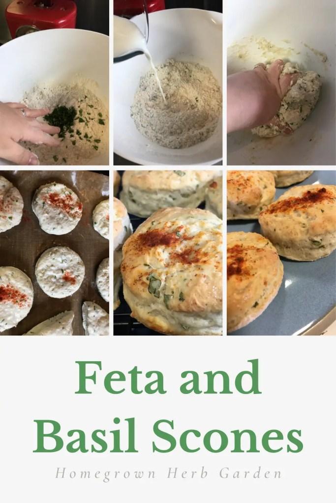 Feta and basil scones