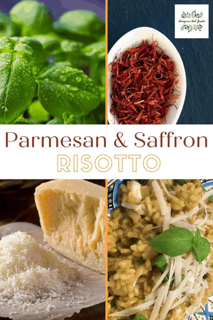parmesan , basil and saffron risotto