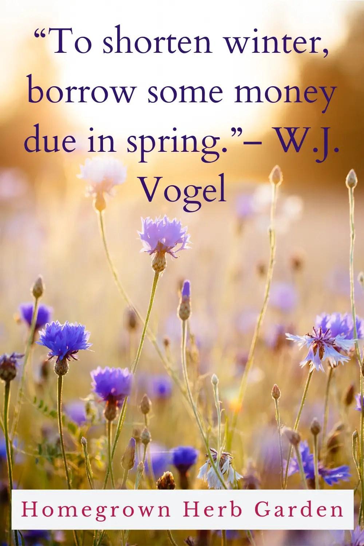 """""""To shorten winter, borrow some money due in spring."""" – W.J. Vogel"""