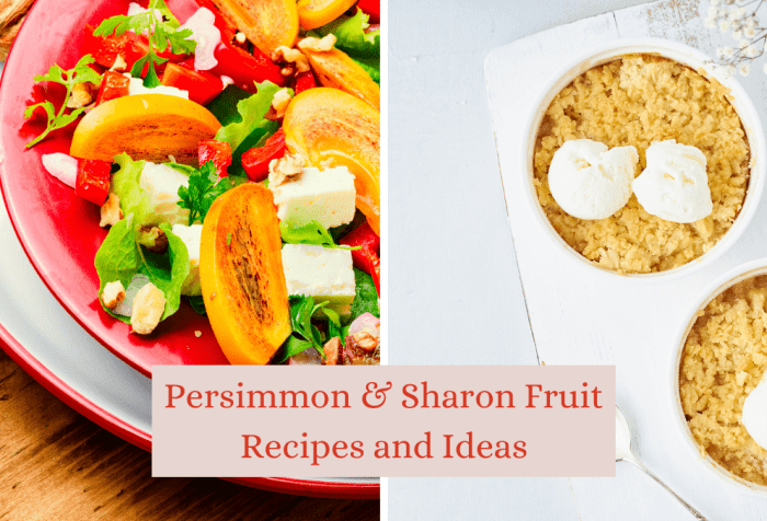 persimmon and Sharon Fruit Recipes and ideas