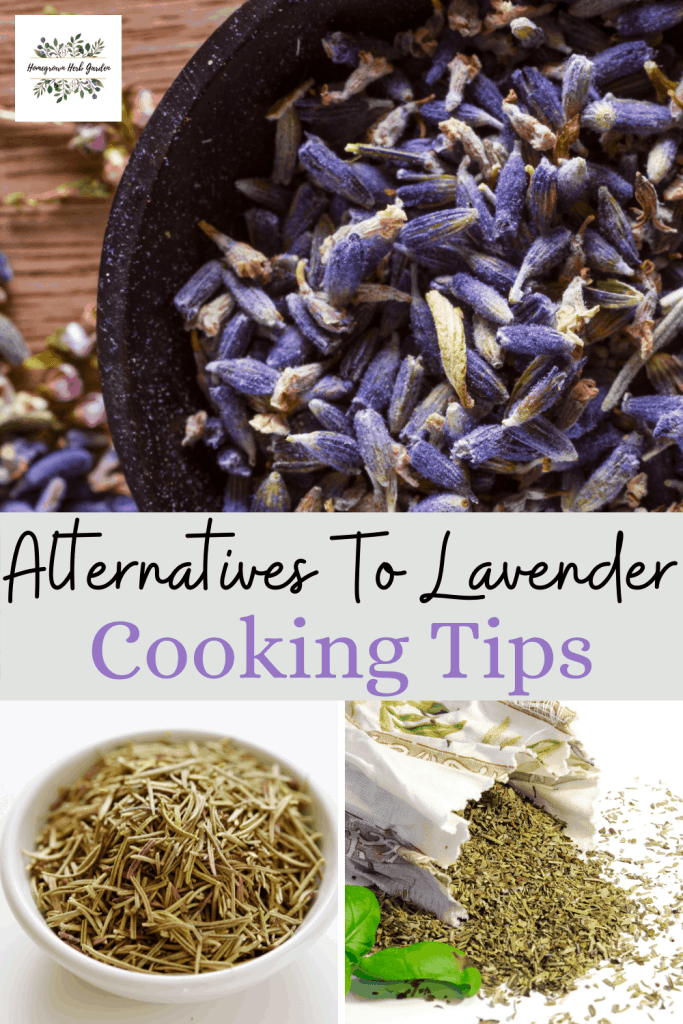 alternatives and substitutes for lavender in recipes