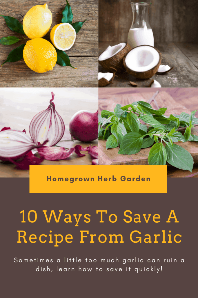 how to solve too much garlic