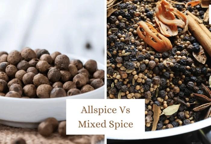 allspice vs mixed spice
