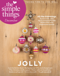 Our family festive feast is featured in this months issue of The Simple Things. December 2016.