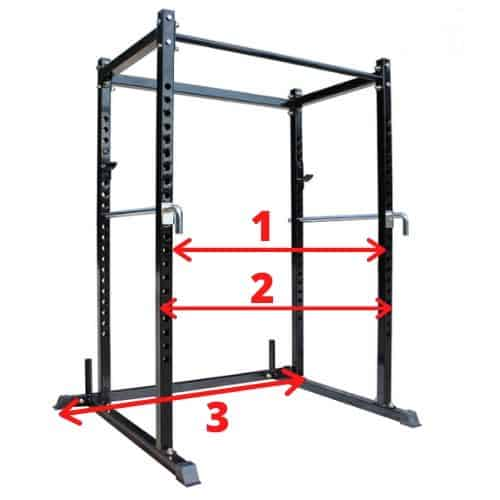 how wide is a power rack list of