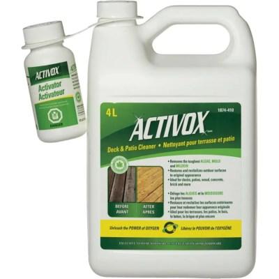 activox 2 part deck patio cleaner 4 l