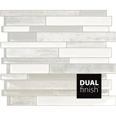 smart tiles milano collection fabrini peel stick backsplash wall tiles 11 55 x 9 63 4 pack