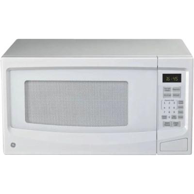 ge 1100 watt 1 1 cu ft white countertop microwave oven
