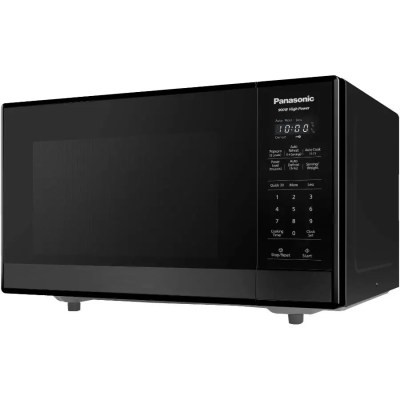 panasonic 900 watt 9 cu ft black stainless steel countertop microwave oven