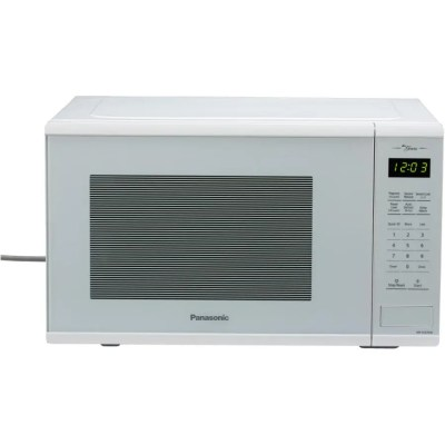 panasonic 1100 watt 1 3 cu ft white countertop microwave oven with genius centre