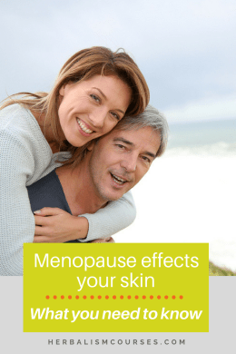 Skincare for menopause should be adjusted to skin changes due to hormonal shifts. By understanding how to care for your skin during menopause, you will transition through this time with grace and beauty. #menopause #skincare #antiaging #hormonalshifts #herbalremedies