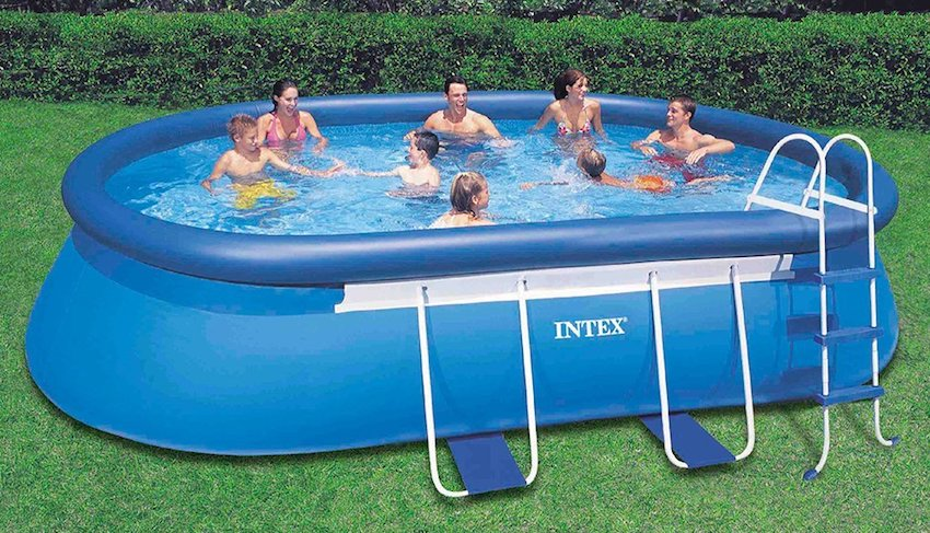 2 Intex Oval Frame Above Ground Pool