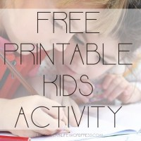 Free Printable Kids Activity - Round Up