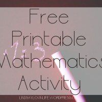 Free Printable Mathematics Activity - Word Problem 1