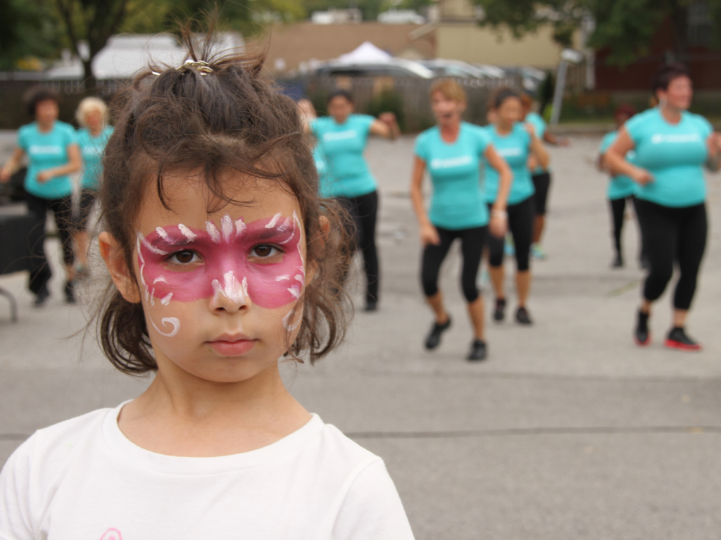 Thornhill Village Cultural Festival girl face painting