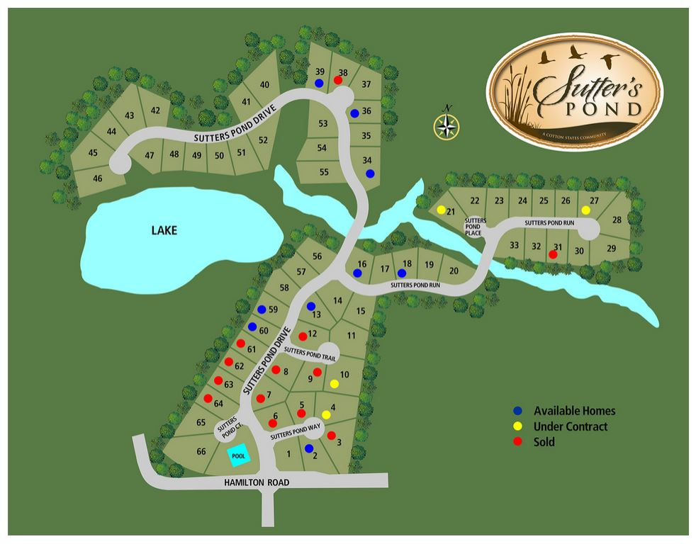 Site Plan Sutters Pond Neighborhood