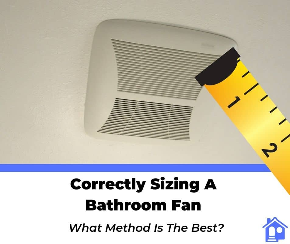 how to size a bathroom exhaust fan cfm