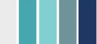 kleurenwaaier blauw