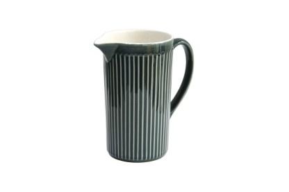 SECLA Reissue Fluted Ceramic Blue Jug