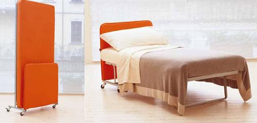 מיטה מתקפלת מבית מילאנו בדינג, מושב רישפון