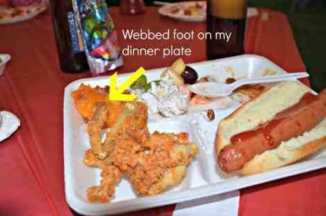 Frog legs on my dinner plate