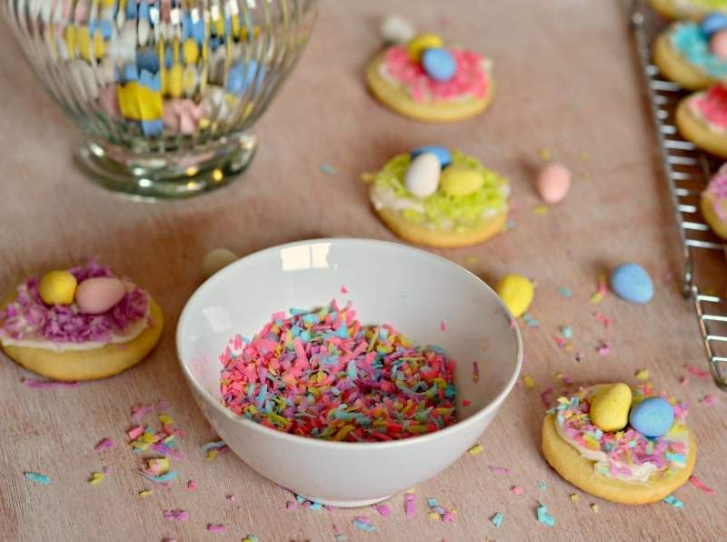 Colored Coconut, perfect for bright and cheery spring treats.
